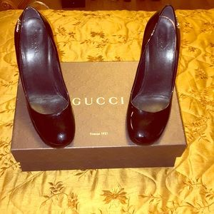 Authentic Gucci Black Patent Heels